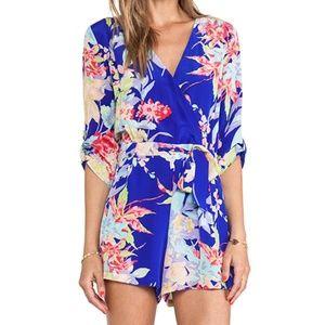 Yumi Kim Women's Blue Zen Floral Romper Size XS